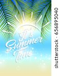 beautiful summer beach and... | Shutterstock . vector #656895040