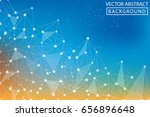 low poly abstract background.... | Shutterstock .eps vector #656896648