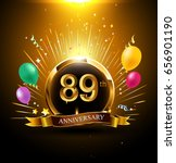 89 years golden anniversary...   Shutterstock .eps vector #656901190