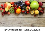 different fruits and berries ... | Shutterstock . vector #656903236