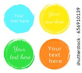 round colored patterns... | Shutterstock .eps vector #656910139