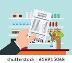 hand holding grocery shopping... | Shutterstock .eps vector #656915068