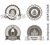 beer and brewery emblems with... | Shutterstock .eps vector #656916268