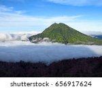 mount bromo volcano  east java  ... | Shutterstock . vector #656917624