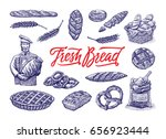 bakery drawing | Shutterstock .eps vector #656923444