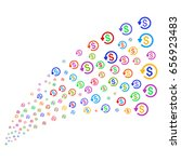 stream of refund symbols.... | Shutterstock .eps vector #656923483
