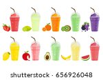 fruits smoothie. strawberry ... | Shutterstock .eps vector #656926048