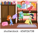 girls having slumber party in... | Shutterstock .eps vector #656926738