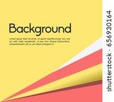 pink yellow white minimal... | Shutterstock .eps vector #656930164