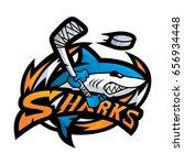 sharks character hockey sport... | Shutterstock .eps vector #656934448