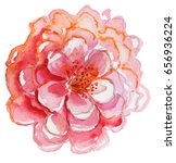 Big  Pink Flower.  Watercolor...