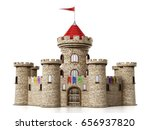 fantastic medieval castle under ... | Shutterstock . vector #656937820