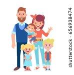 vector family characters  ... | Shutterstock .eps vector #656938474