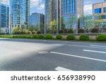 empty asphalt road front of... | Shutterstock . vector #656938990