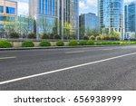 empty asphalt road front of... | Shutterstock . vector #656938999