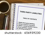 Small photo of Third party liability concept- with index topic on coversheet.