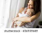 view at happy mother with... | Shutterstock . vector #656939689