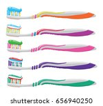vector set of colorful... | Shutterstock .eps vector #656940250