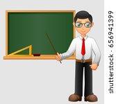 young friendly teacher standing ... | Shutterstock .eps vector #656941399