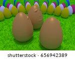 3d rendering of smiling golden...   Shutterstock . vector #656942389