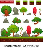 fantasy wood constructor for... | Shutterstock .eps vector #656946340