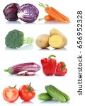 collection of vegetables bell... | Shutterstock . vector #656952328