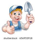 a cartoon gardener holding a... | Shutterstock . vector #656953918