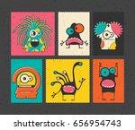 set of six retro postage s...   Shutterstock .eps vector #656954743