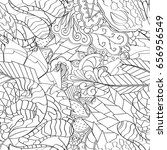 tracery seamless pattern.... | Shutterstock .eps vector #656956549