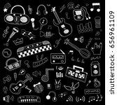 music symbols doodle set | Shutterstock .eps vector #656961109