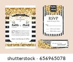 stylish set of wedding... | Shutterstock .eps vector #656965078