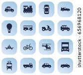 set of 16 shipping icons set... | Shutterstock .eps vector #656968120