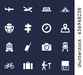 set of 16 relax icons set