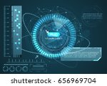 hud technology background... | Shutterstock .eps vector #656969704