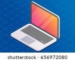vector 3d isometric laptop.... | Shutterstock .eps vector #656972080