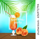summer party invitation card.... | Shutterstock .eps vector #656972794