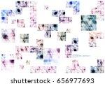 geometric technological various ... | Shutterstock .eps vector #656977693