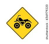 canadian road warning sign  atv ...   Shutterstock .eps vector #656979220
