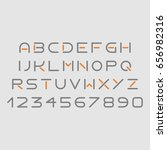 futuristic grey and orange font ... | Shutterstock .eps vector #656982316