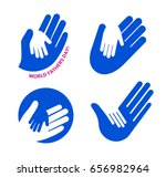 holding hand of a child in the... | Shutterstock .eps vector #656982964