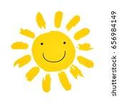 hand drawn cute shinny sun... | Shutterstock .eps vector #656984149