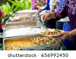 food buffet catering dining... | Shutterstock . vector #656992450