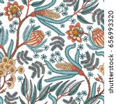 seamless pattern with fantasy... | Shutterstock .eps vector #656993320