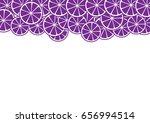 citrus slice on white... | Shutterstock .eps vector #656994514