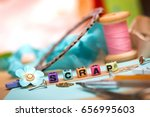 scrapbook background. card and... | Shutterstock . vector #656995603