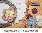 scrapbook background. card and... | Shutterstock . vector #656995648