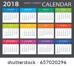 vector template of color 2018... | Shutterstock .eps vector #657020296