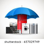 umbrella insurance concept  ...   Shutterstock .eps vector #657029749