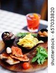 italian aperitives aperitif ... | Shutterstock . vector #657033820