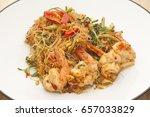 thai cuisine spicy stir fried...   Shutterstock . vector #657033829